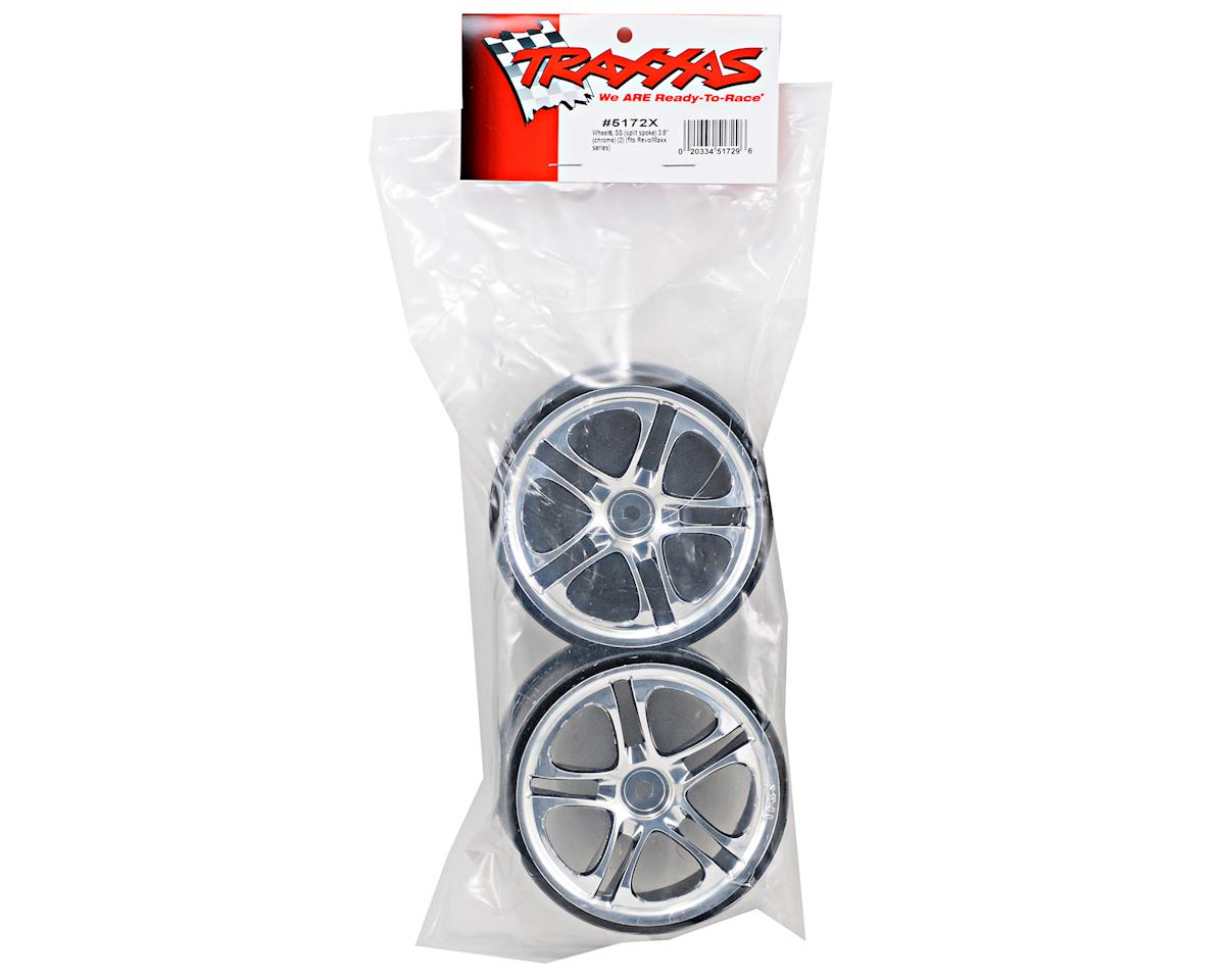 Traxxas 3.8 SS Split Spoke Wheels (Revo,TMX) (2) (Chrome)
