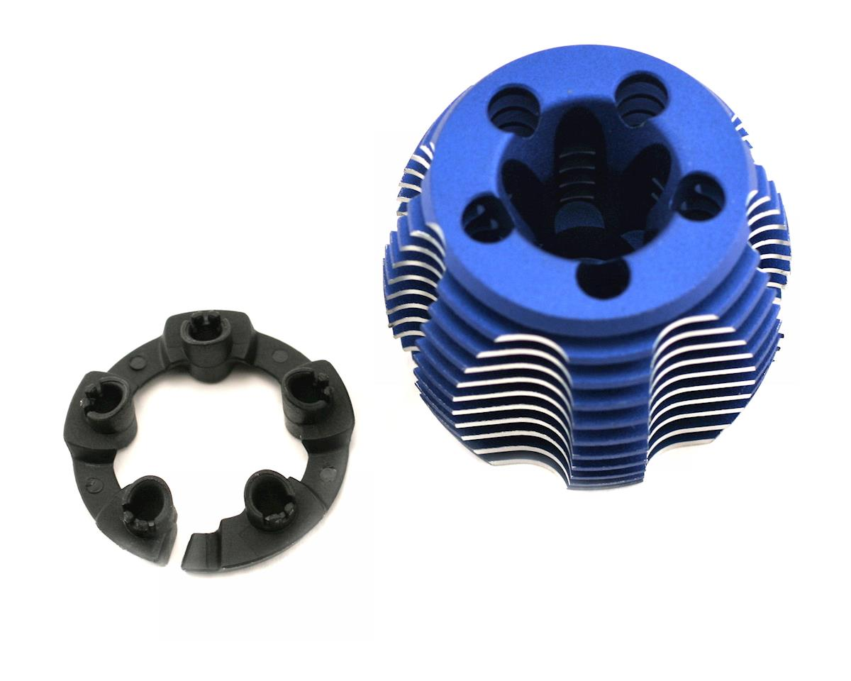 Traxxas TRX 2.5 Cooling head, PowerTune (machined aluminum, blue-anodized) (TRX and 2.5R)/ head prot