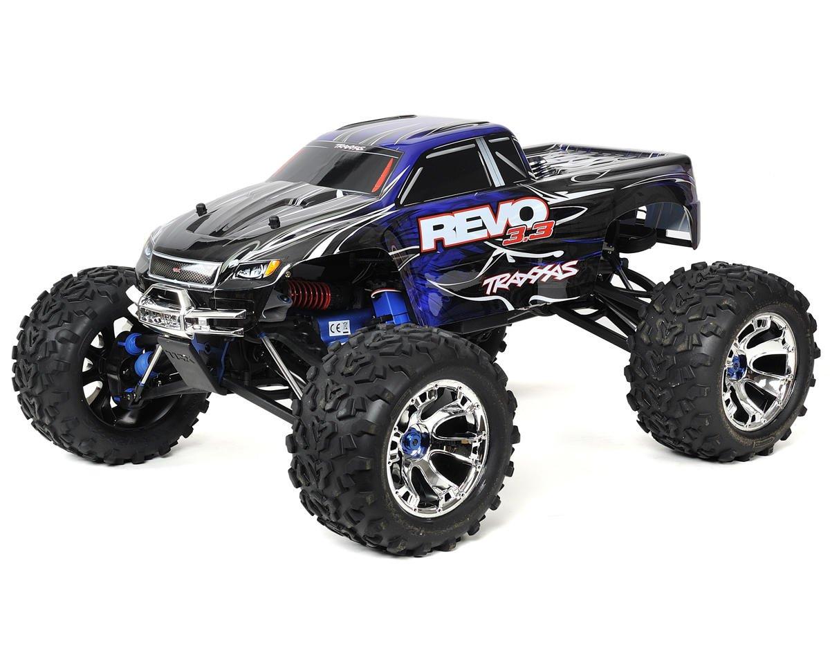 Traxxas Revo 3 3 4wd Rtr Nitro Monster Truck W Tqi Blue