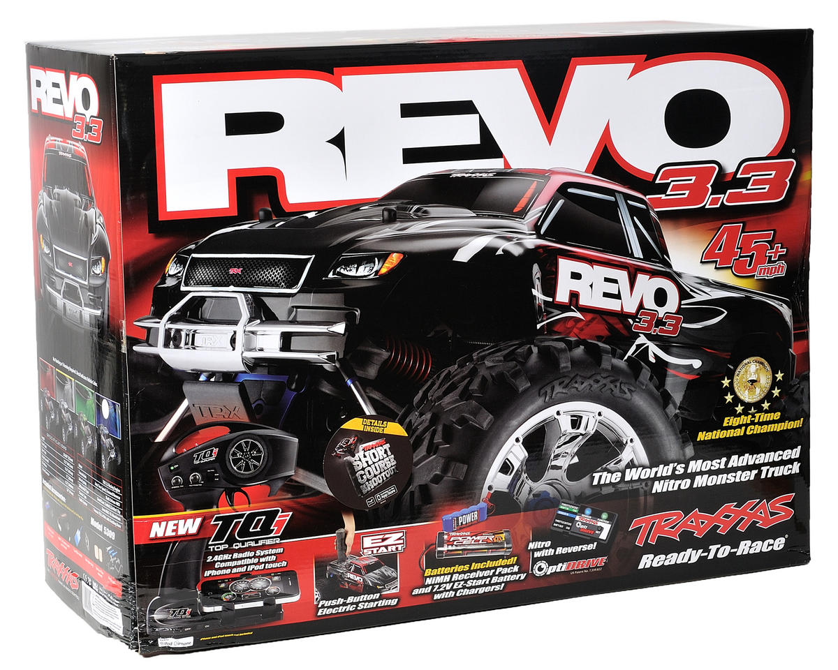 Traxxas Revo 3.3 4WD RTR Nitro Monster Truck w/TQi, Docking Base & Telemetry