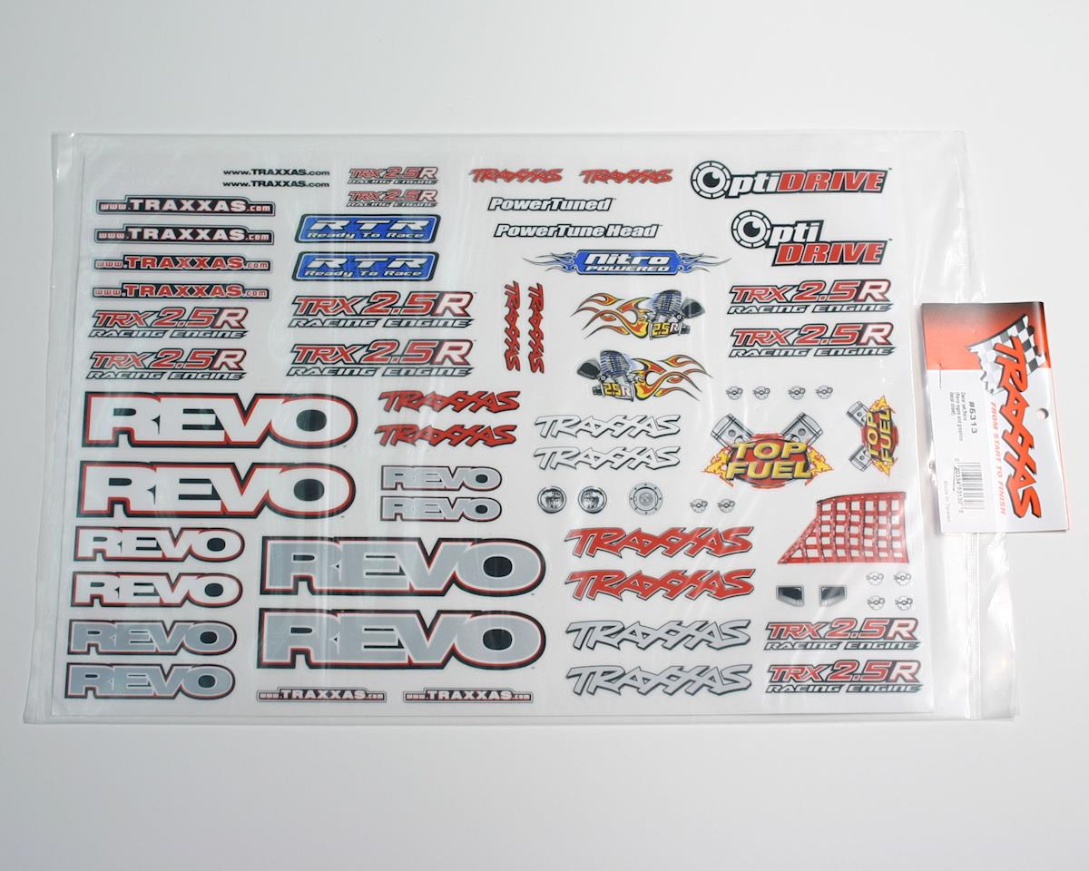 Traxxas Revo Decal set (Revo logos and graphics decal sheet)