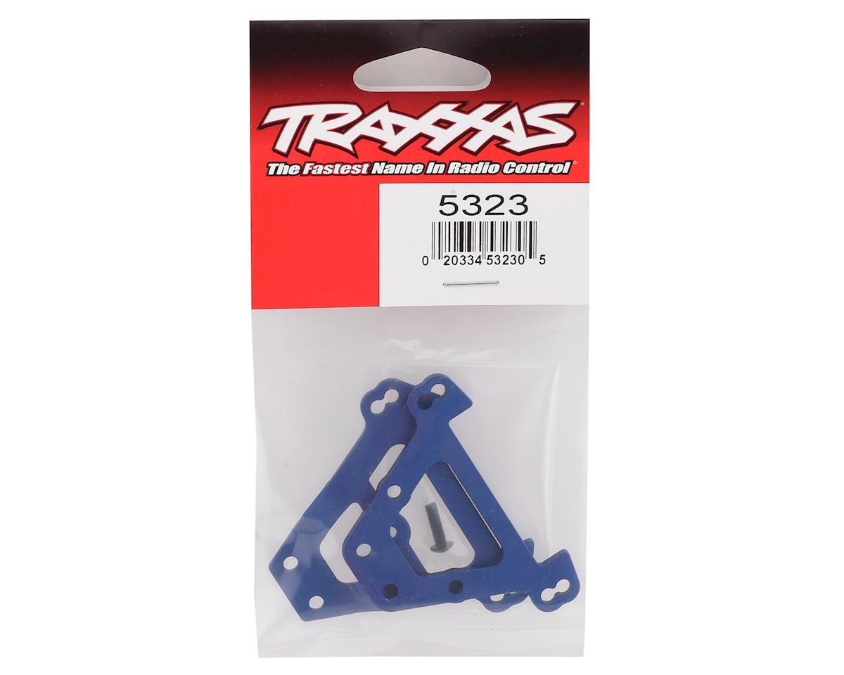 Traxxas Aluminum Bulkhead Tie Bars (Blue)