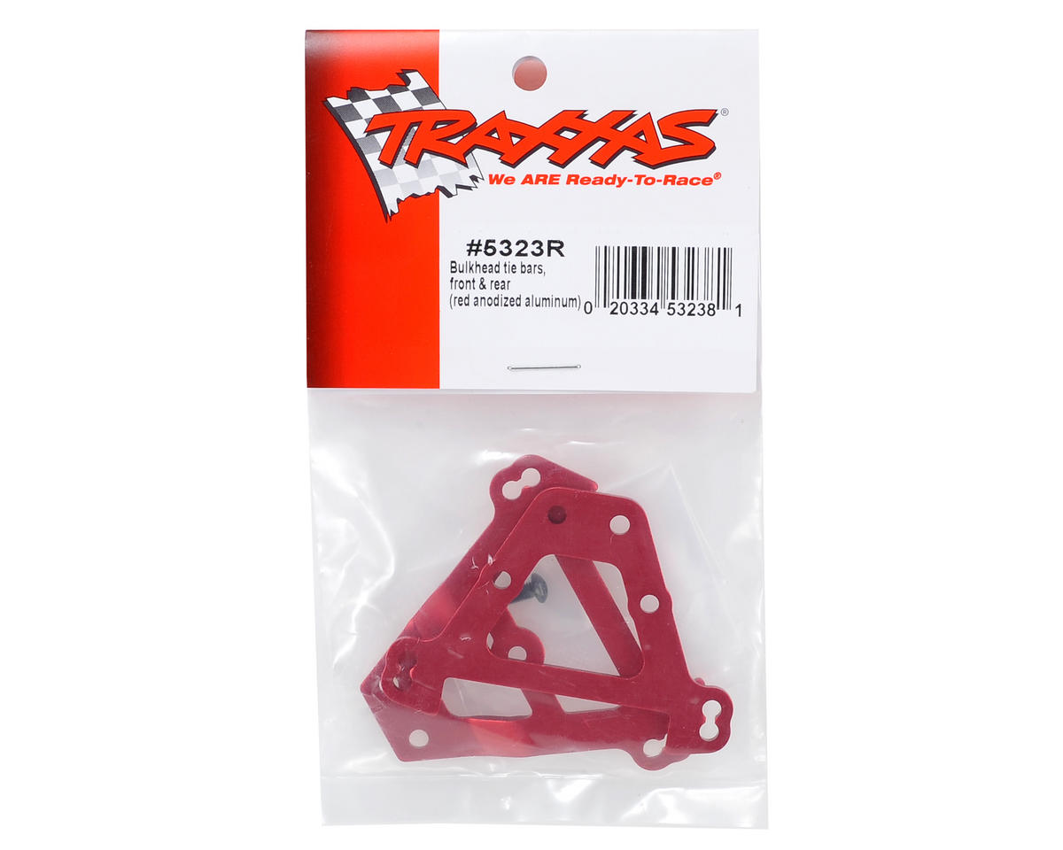 Aluminum Bulkhead Tie Bars (Red) by Traxxas