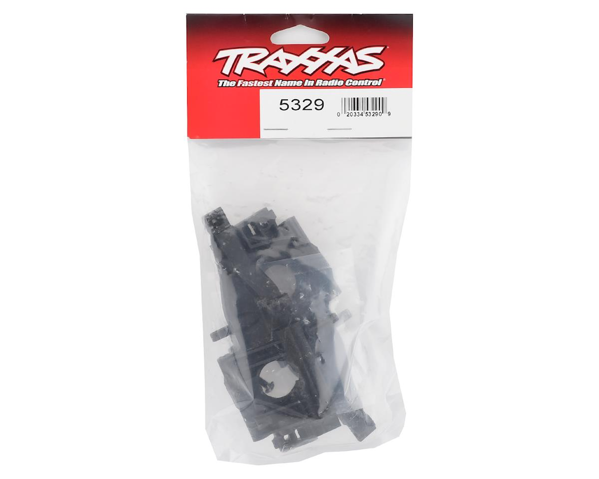Traxxas Revo Bulkhead, rear (L&R halves)/ diff retainer, rear/ 4x14mm BCS (4)