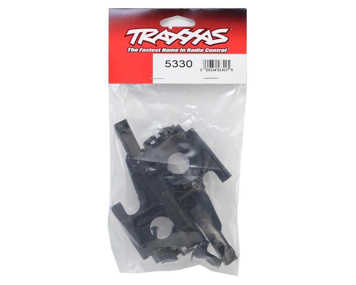 Traxxas Revo Bulkhead, front (L&R halves)/ diff retainer/ 4x14mm BCS (4)