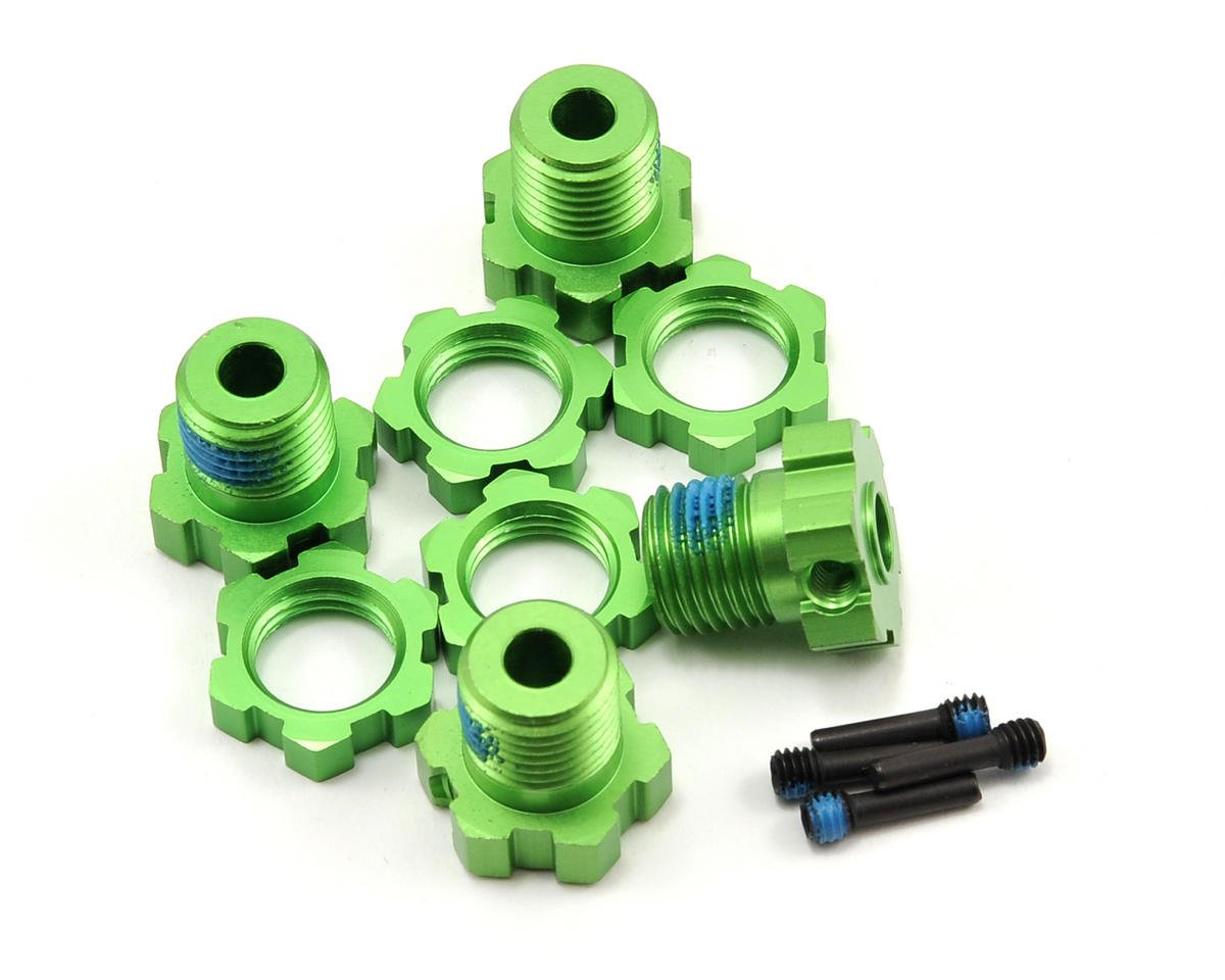 Traxxas 17mm Splined Wheel Hub Set (Green) (4)