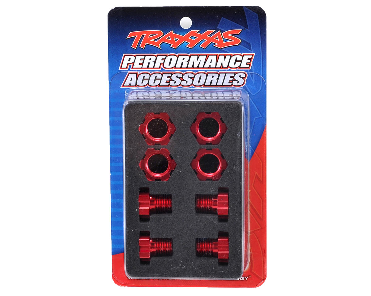 17mm Splined Wheel Hub Set (Red) (4) by Traxxas