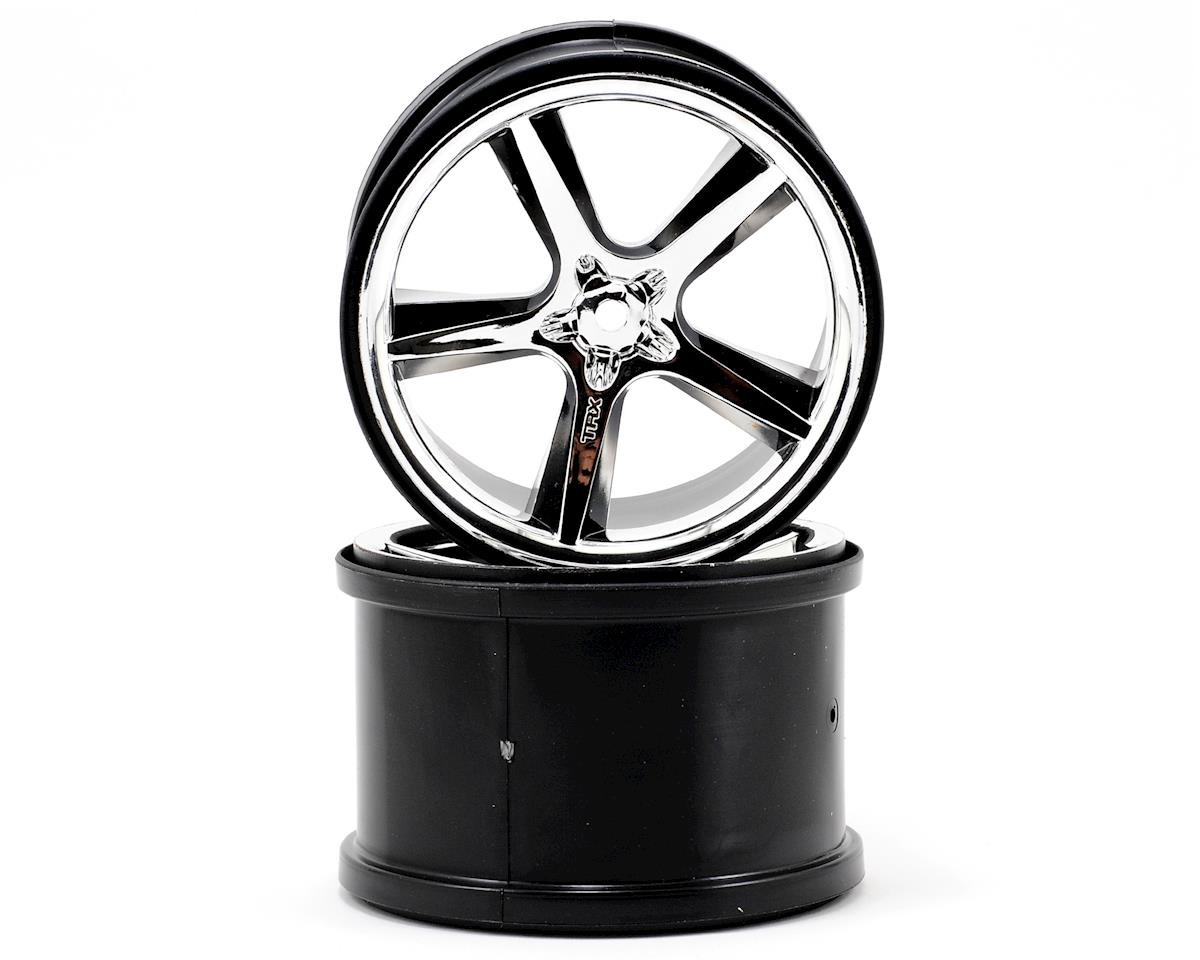 Traxxas 3.8 Gemini Monster Truck Wheels (2) (Revo) (Chrome)