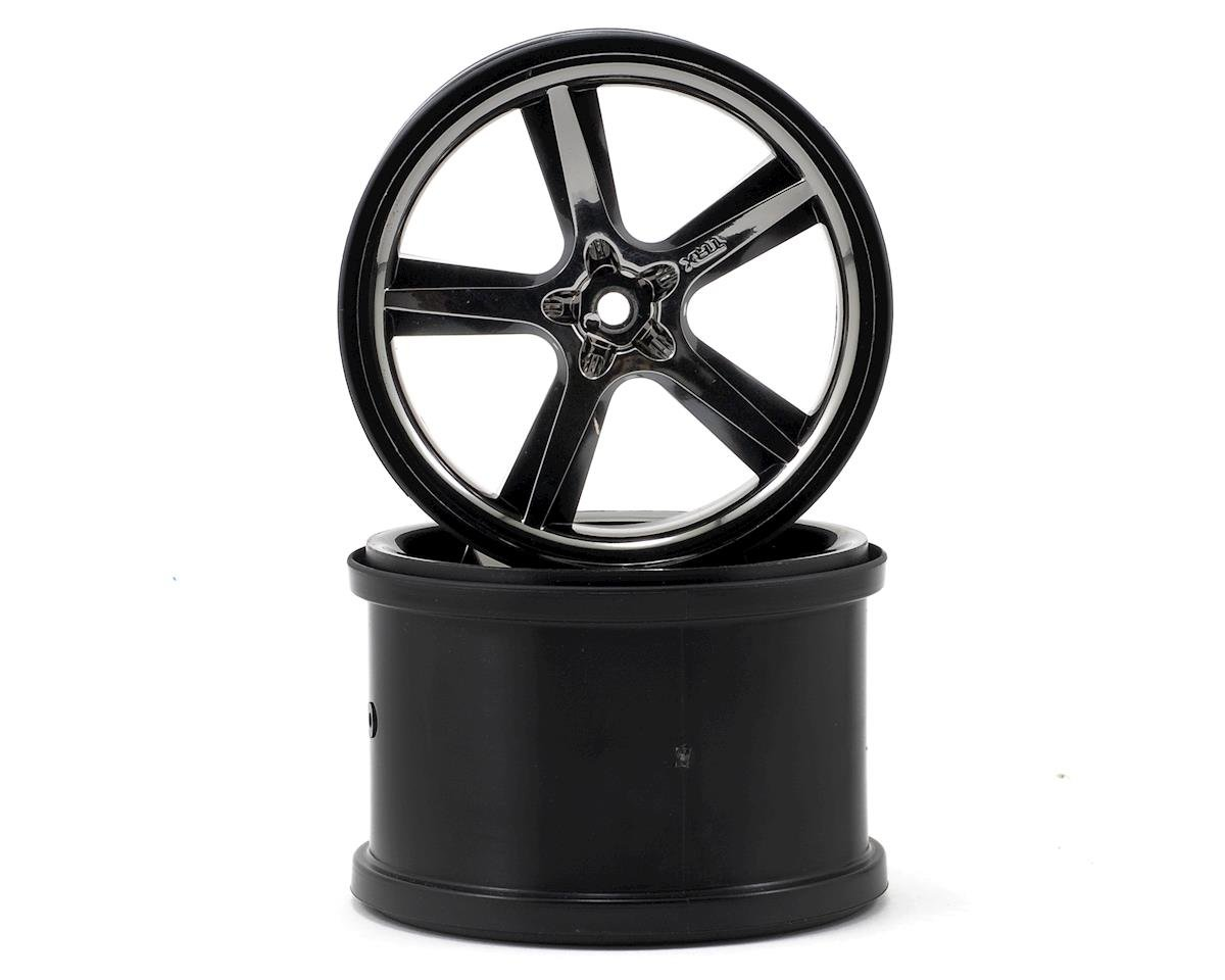 "Traxxas Gemini 3.8"" Wheel (2) (Black Chrome)"