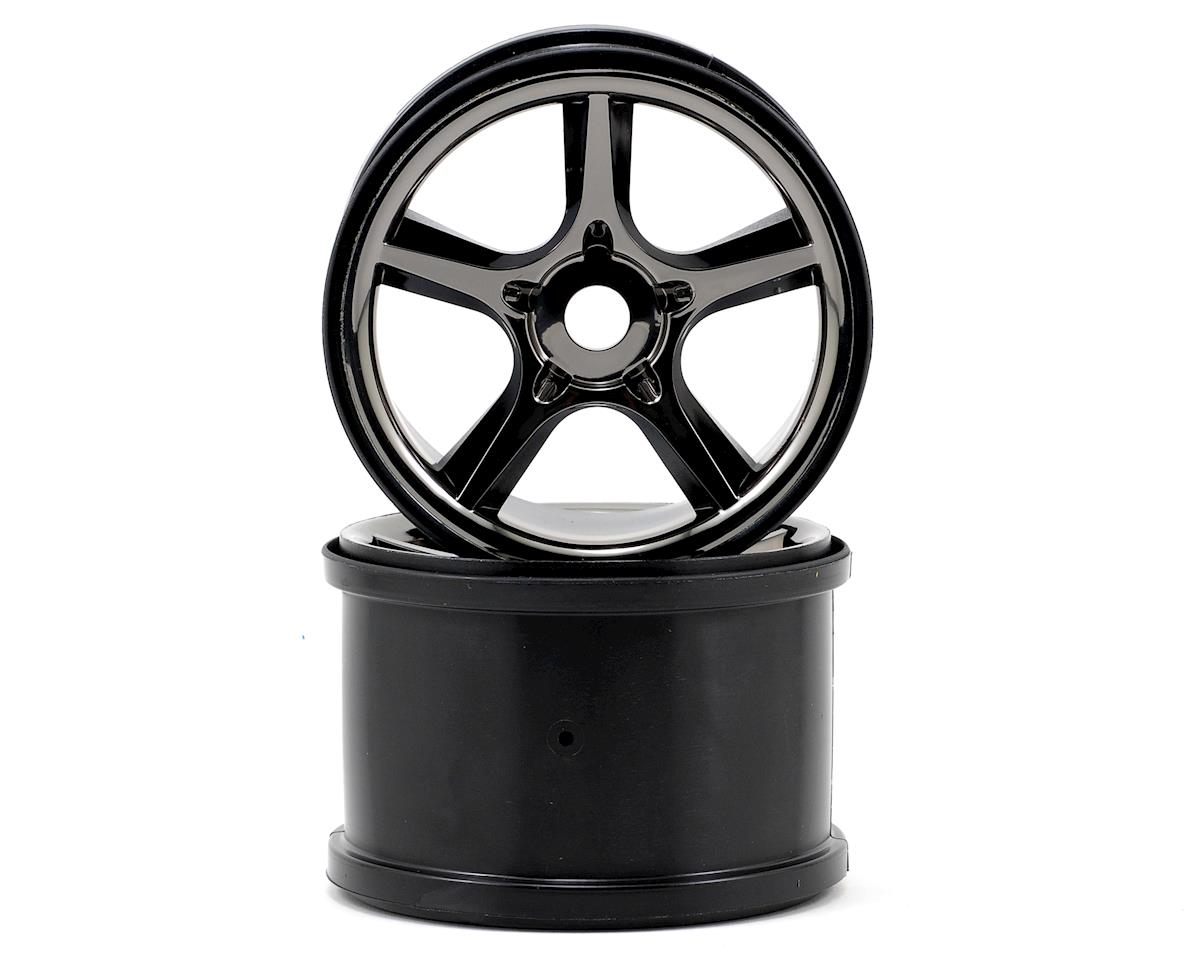 "Traxxas Gemini 3.8"" 17mm Wheel (2) (Black Chrome)"