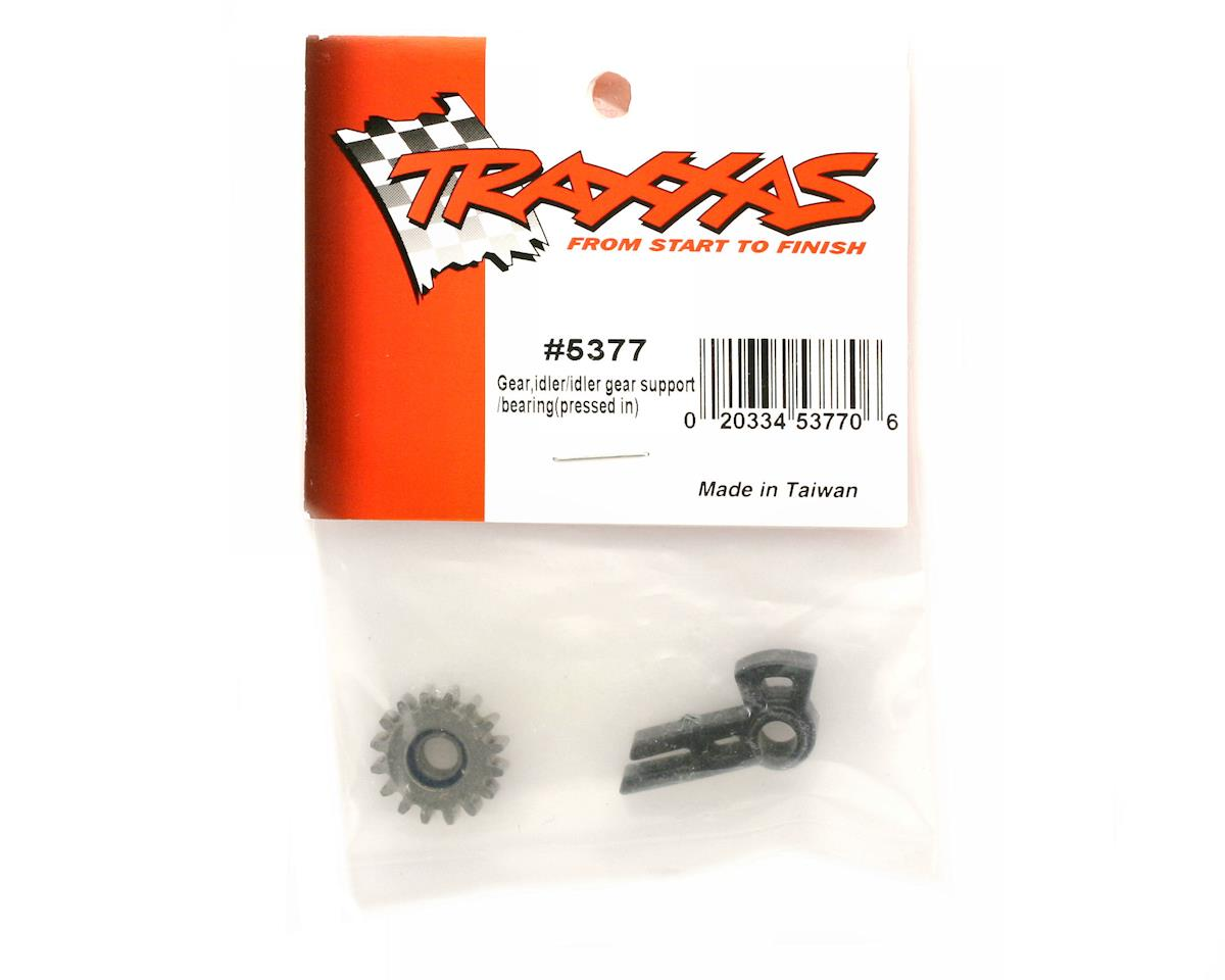 Traxxas Revo Gear, idler/ idler gear support/ bearing (pressed in)