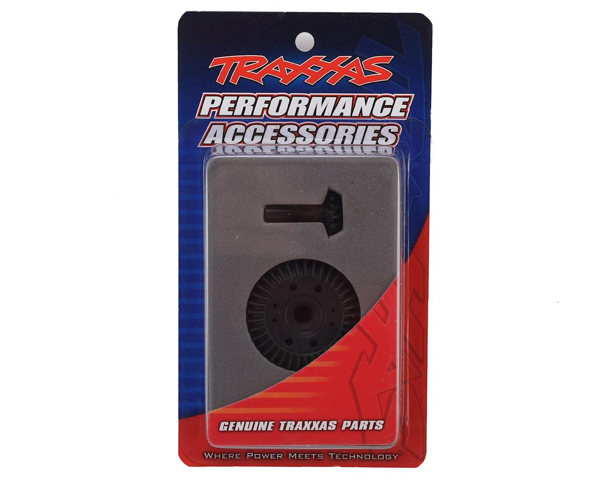 Traxxas Spiral Cut Differential Ring Gear & Pinion Gear Set (Front)