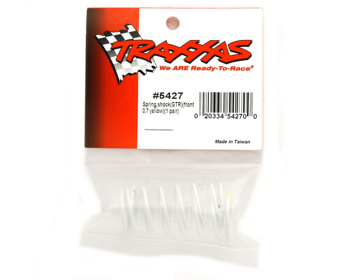 Traxxas Front Shock Springs (Yellow - GTR 0.7) (2)