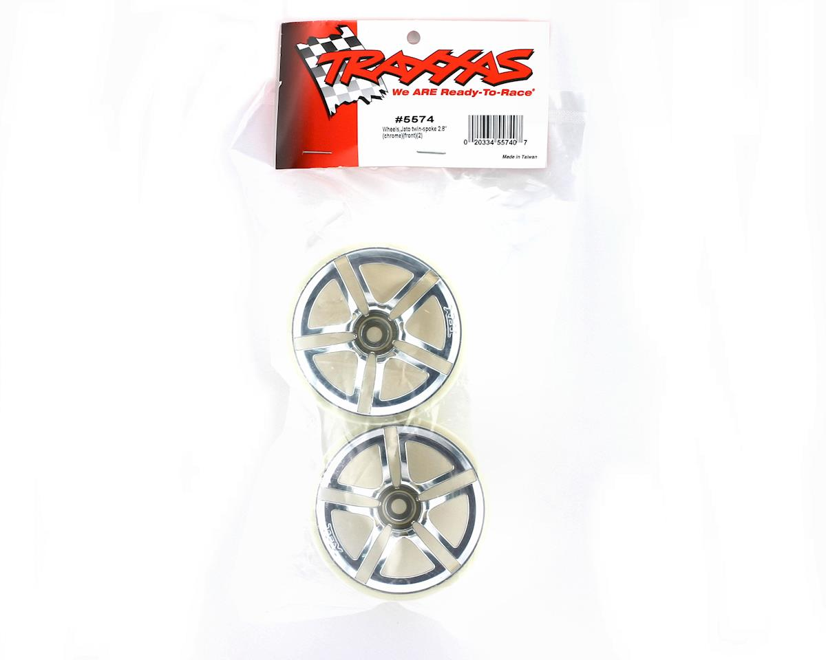 Image 2 for Traxxas Twin Spoke Front Wheels (2) (Jato) (Chrome)