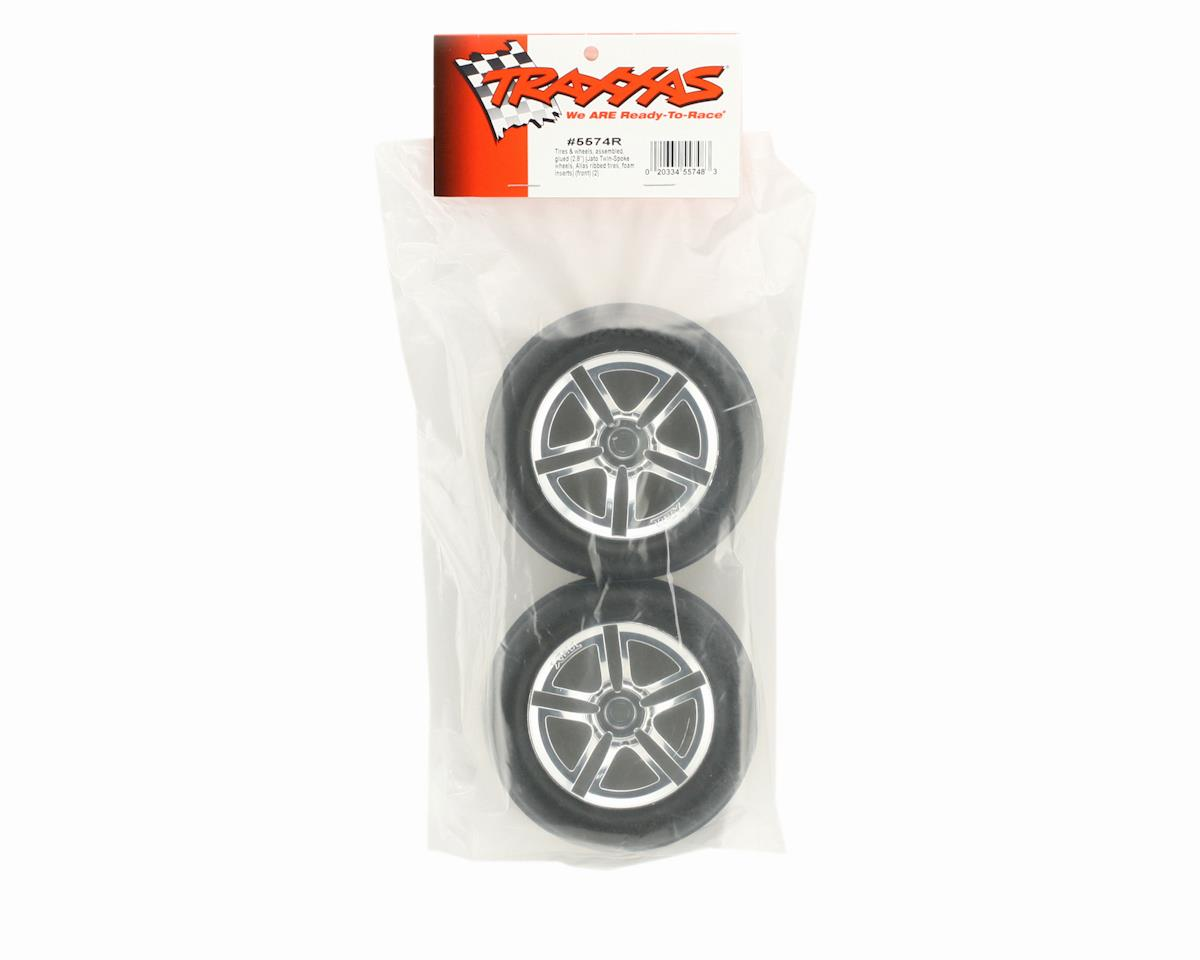 Pre-Mounted Front Tires (2) by Traxxas