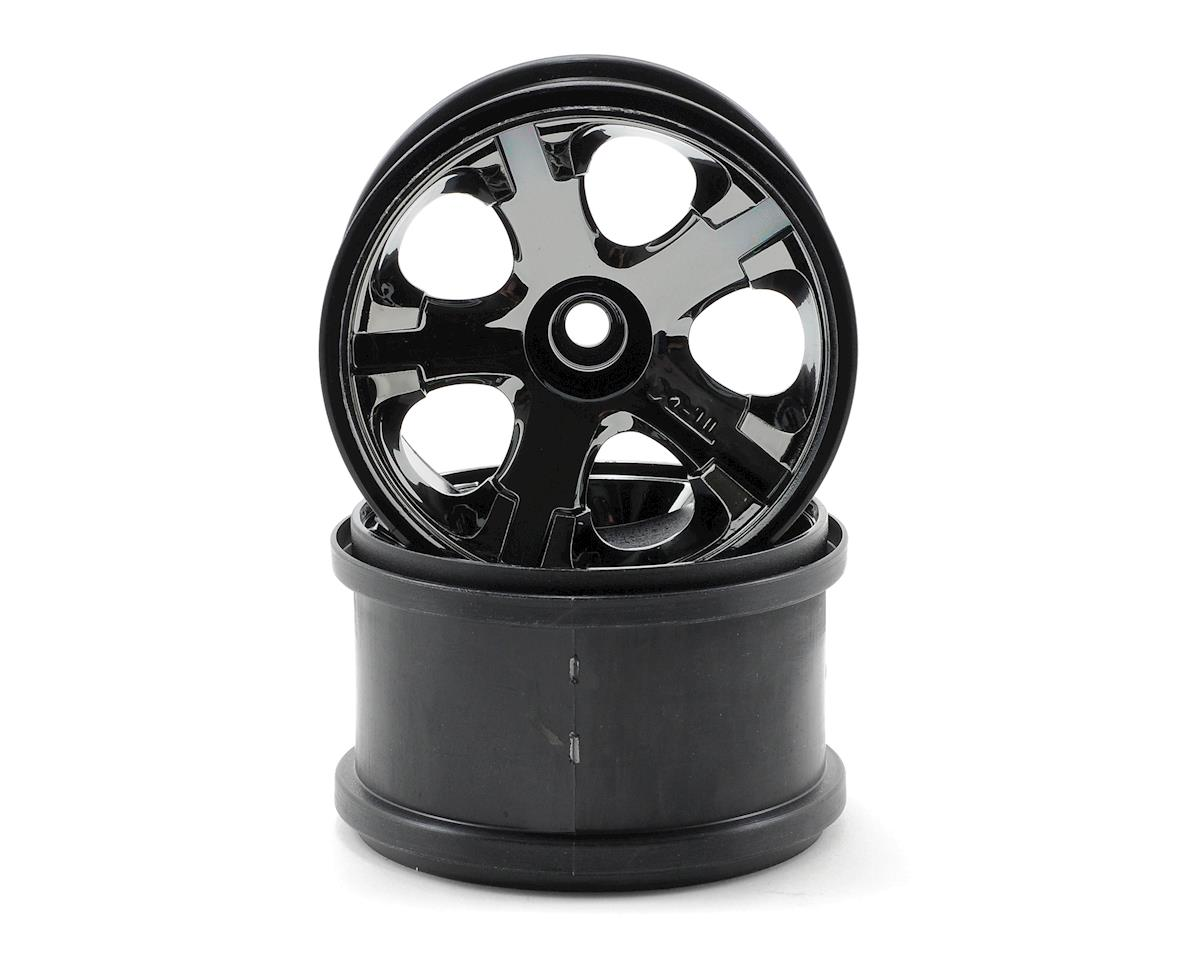 "Traxxas All-Star 2.8"" Front Wheels (2) (Jato, Jato 3.3) (Black Chrome) (Pins)"