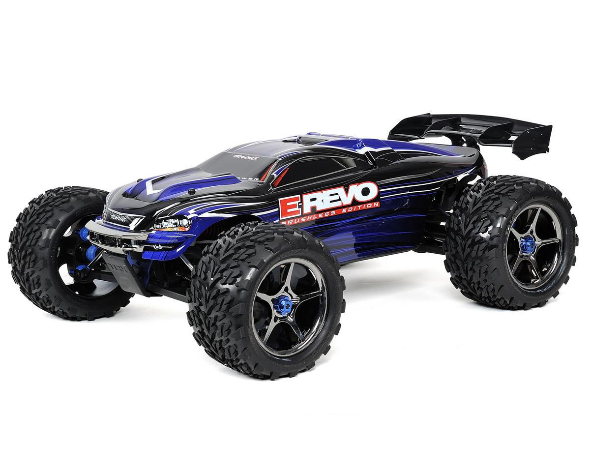 traxxas e-revo brushless rtr monster truck w/tqi 2 4ghz radio, castle mamba  & li [tra5608x] | cars & trucks - amain hobbies