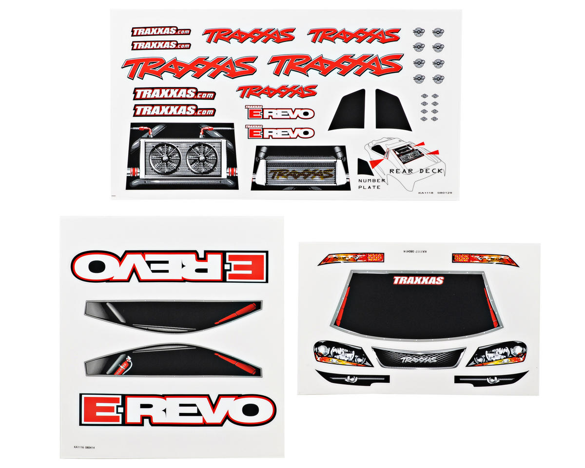 Traxxas E-Revo Decal Sheet