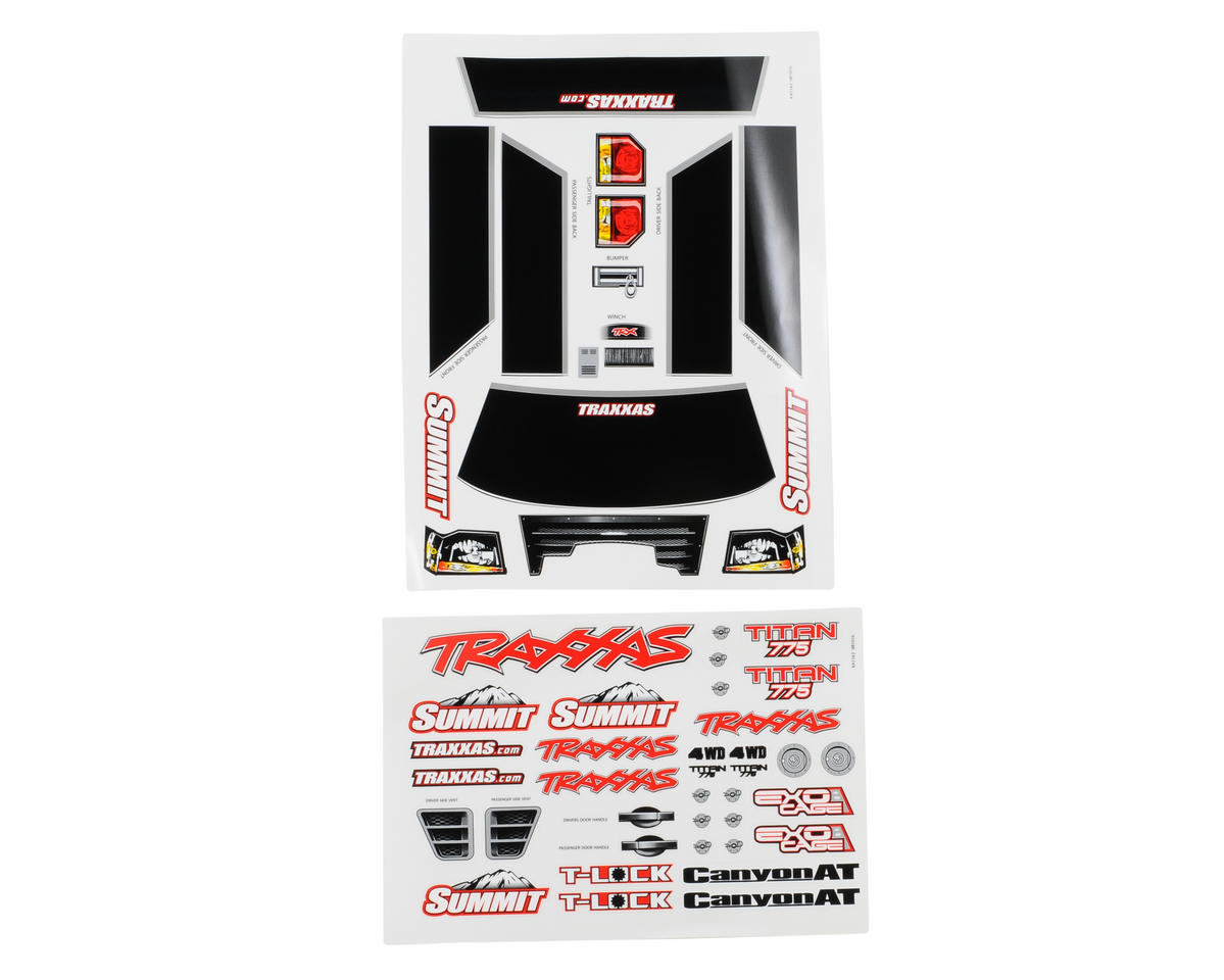 Traxxas Summit Decal Sheet