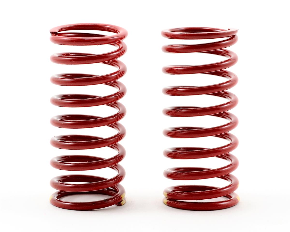 Long Shock Springs (Red w/Double Yellow Stripe - GTR 4.9) (2) (Summit) by Traxxas