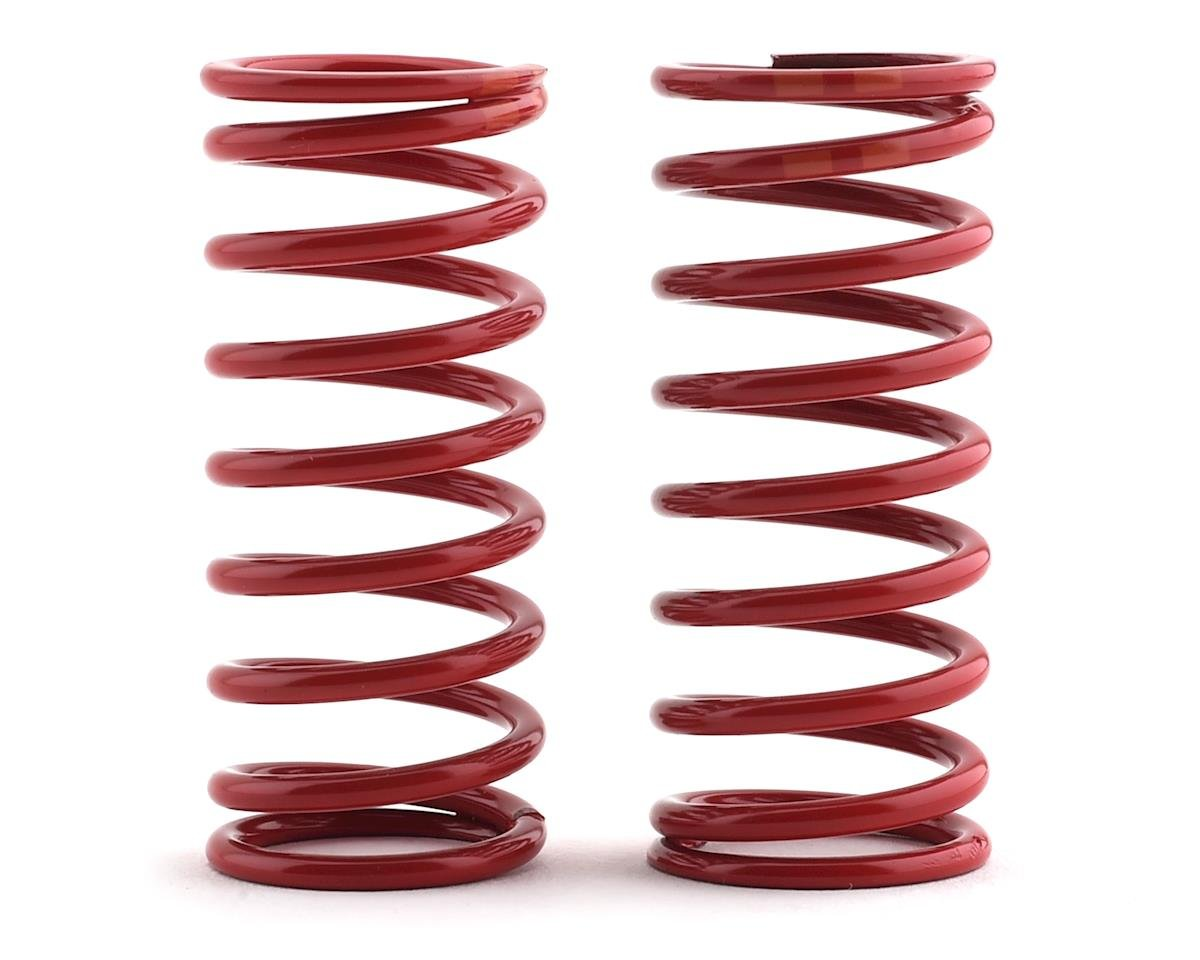 Long Shock Springs (Red w/Double Orange Stripe - GTR 5.4) (2) (Summit) by Traxxas