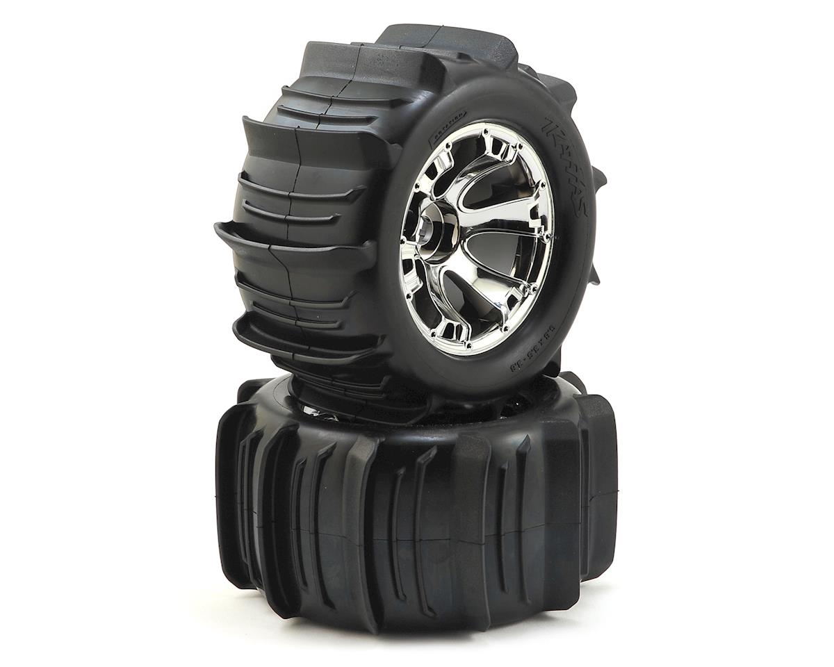 "Traxxas Paddle Tires 3.8"" Pre-Mounted w/17mm Geode Wheels (2) (Tekno RC MT410)"