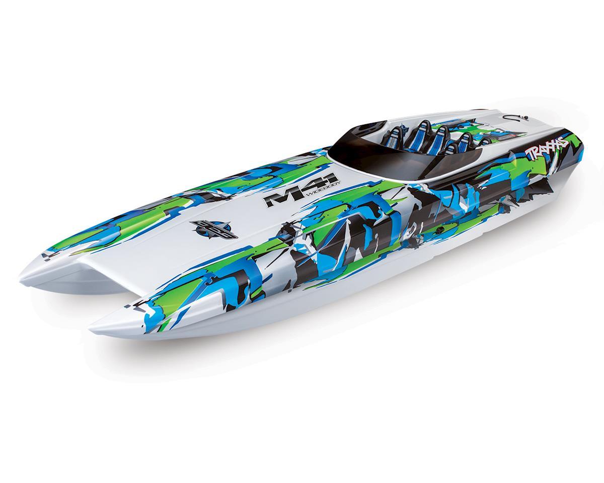 "Traxxas DCB M41 Widebody 40"" Catamaran High Performance 6S Race Boat (Green)"