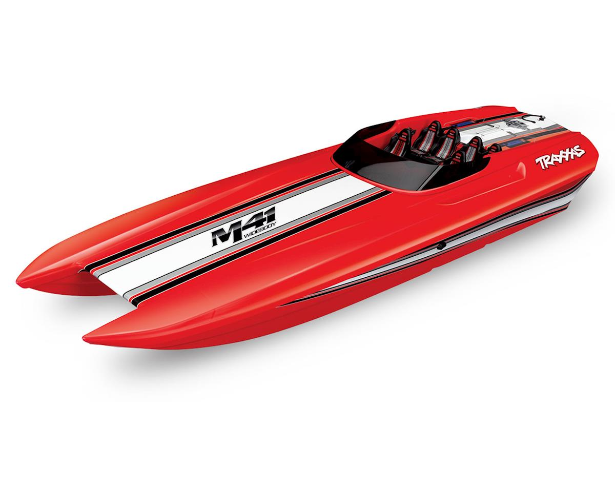 "DCB M41 Widebody 40"" Catamaran High Performance 6S Race Boat (Red) by Traxxas"