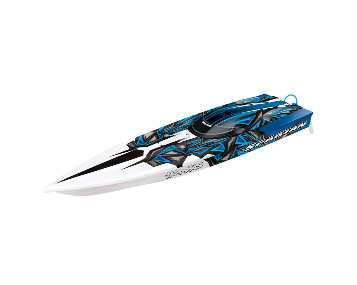 "Traxxas Spartan: BLH 36"" Race Boat w/ TSM: Electric Blue"