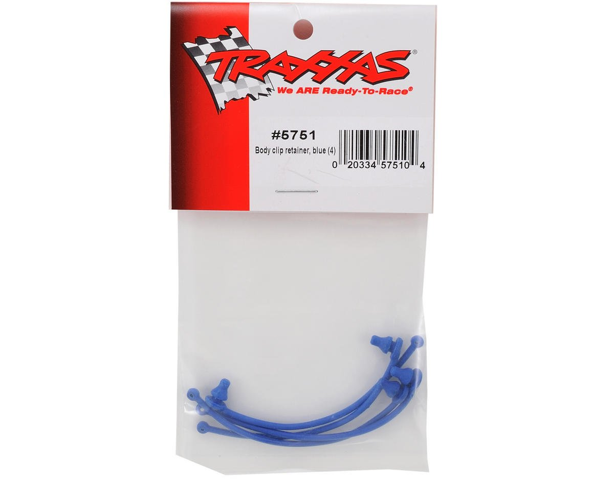 Traxxas Body Clip Retainer Set (Blue) (4)
