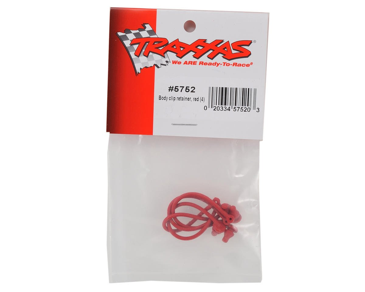 Traxxas Body Clip Retainer Set (Red) (4)