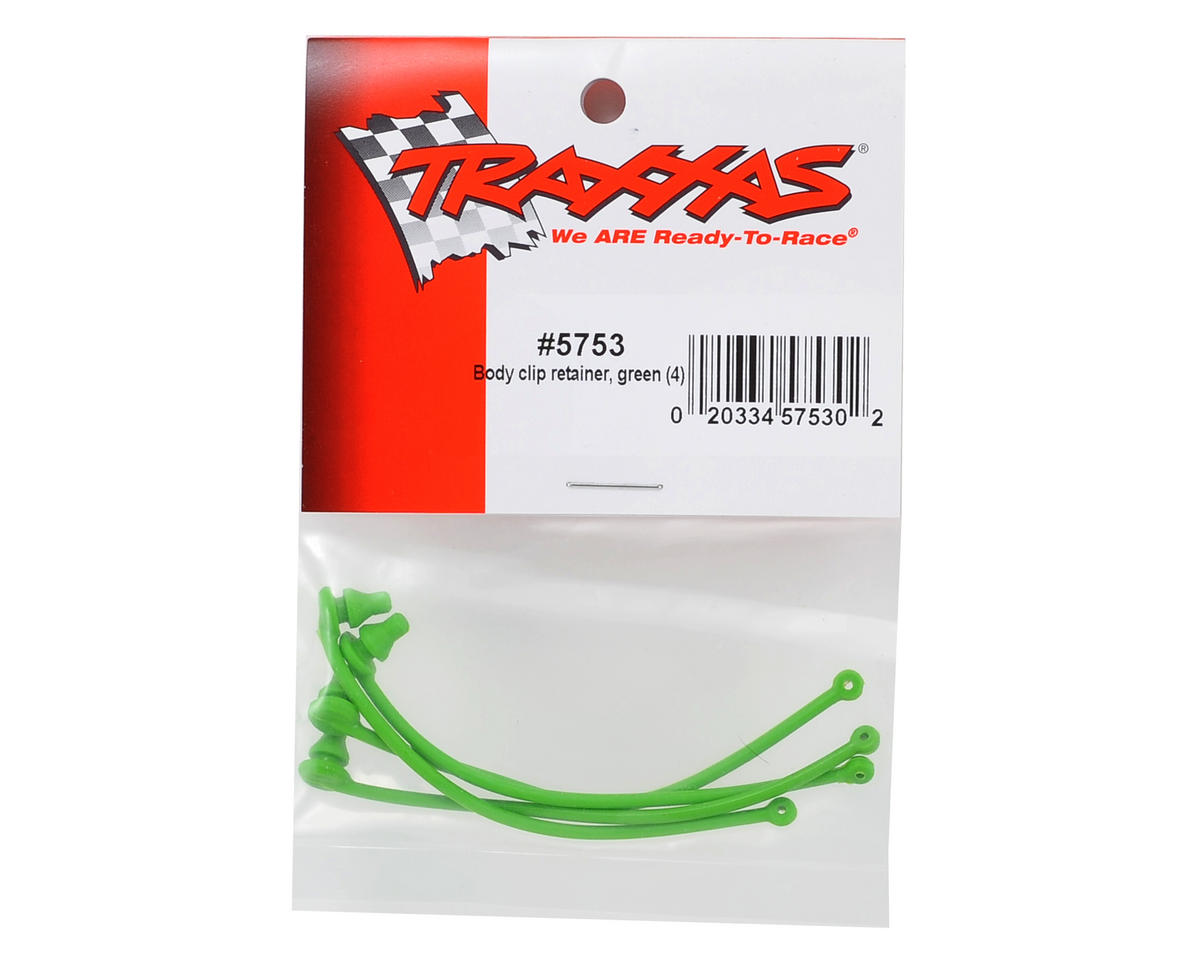 Traxxas Body Clip Retainer (Green) (4)
