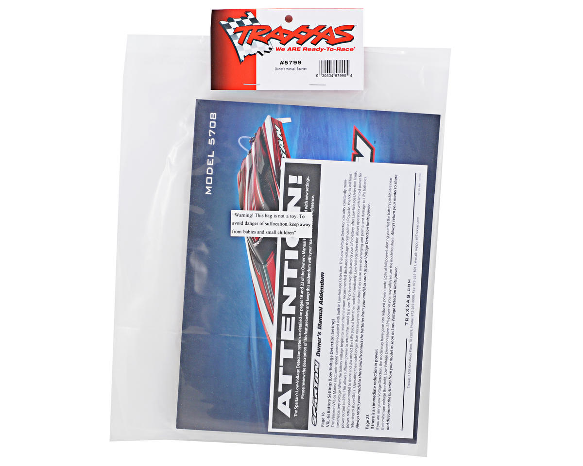 Traxxas Spartan Owners Manual
