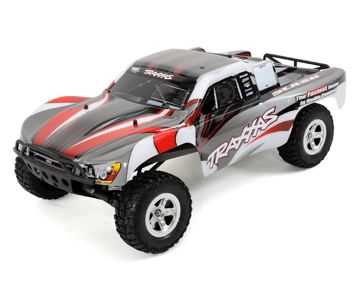 Traxxas Slash 1/10 RTR Electric 2WD Short Course Truck (Silver/Red) w/TQ  2 4GHz Radio System