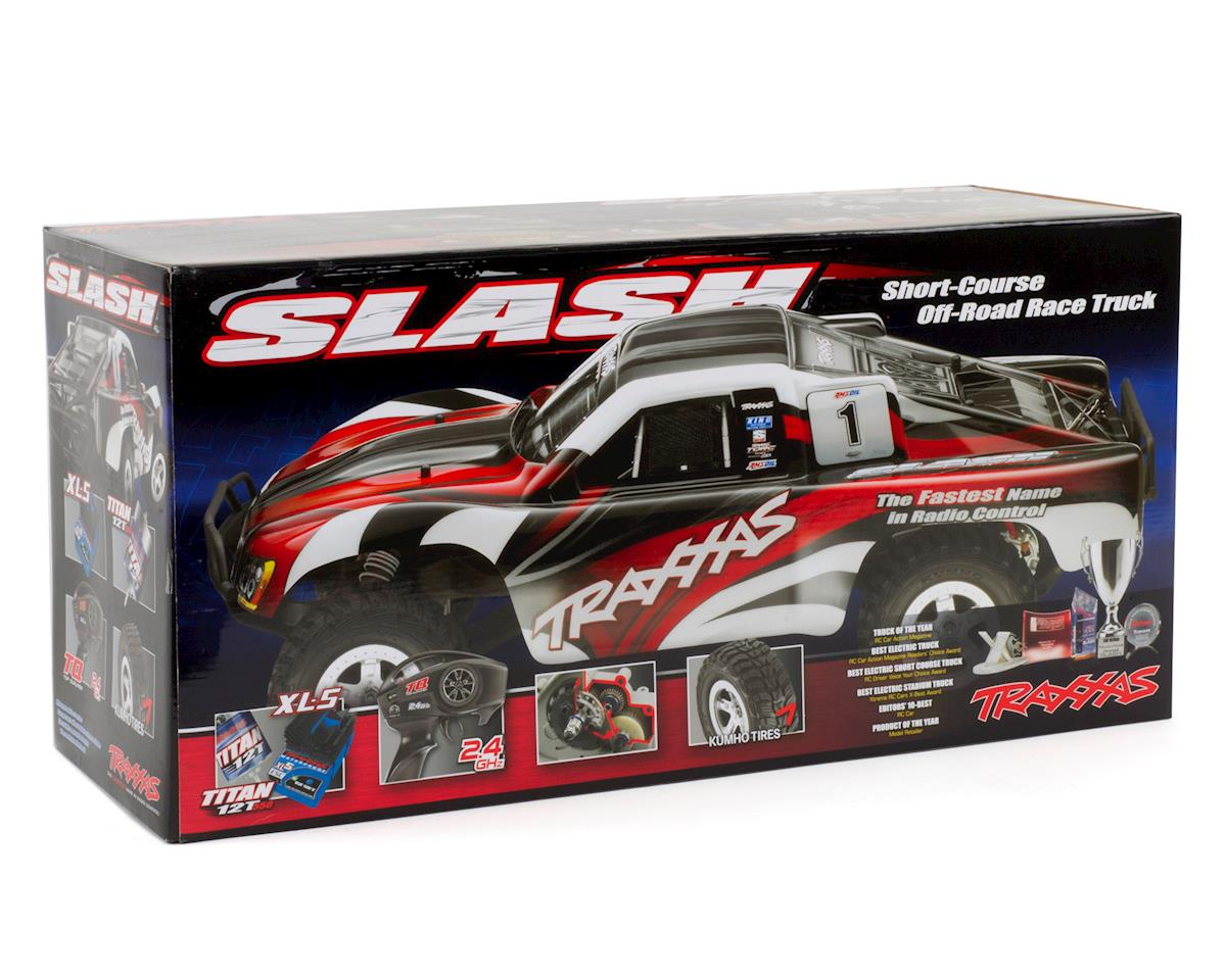 Slash 1/10 RTR Electric 2WD Short Course Truck (Silver/Red) by Traxxas