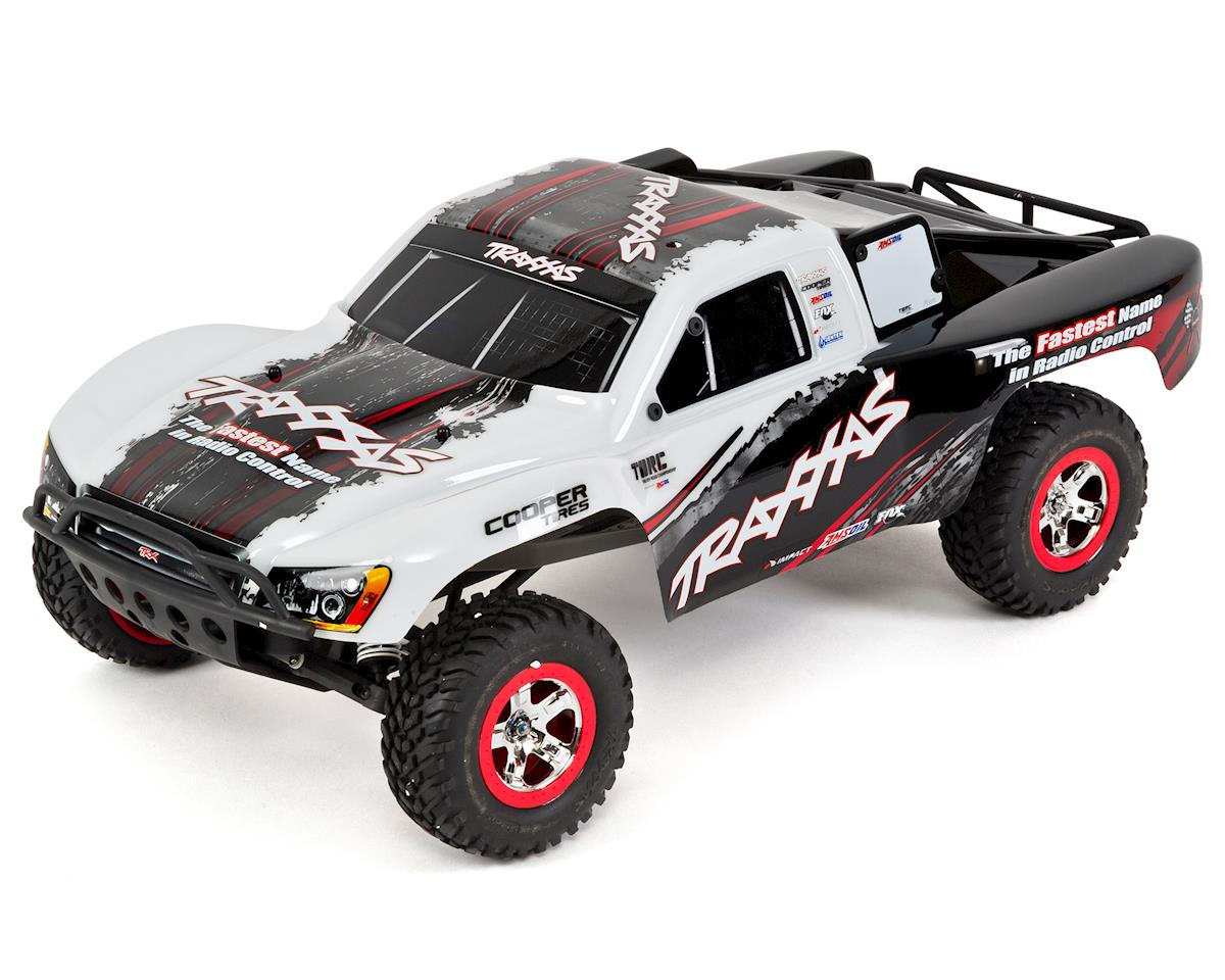 Traxxas Slash 1/10 RTR Short Course Truck (White) w/On Board Audio, XL-5,  2 4GHz Radio, Battery & Charger