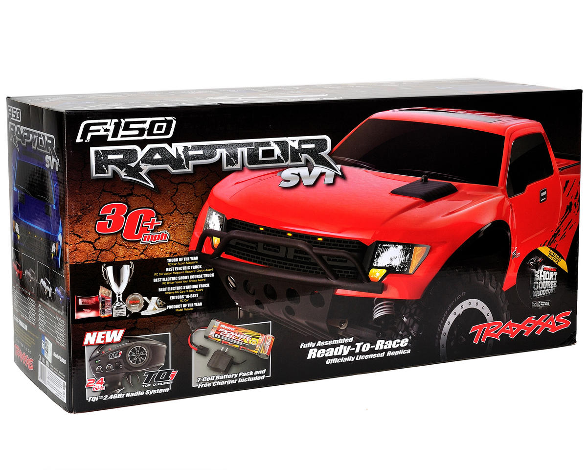 "Traxxas ""Ford F-150 SVT Raptor"" Slash 1/10 RTR Truck (w/TQ 2.4GHz, Battery & Cha"