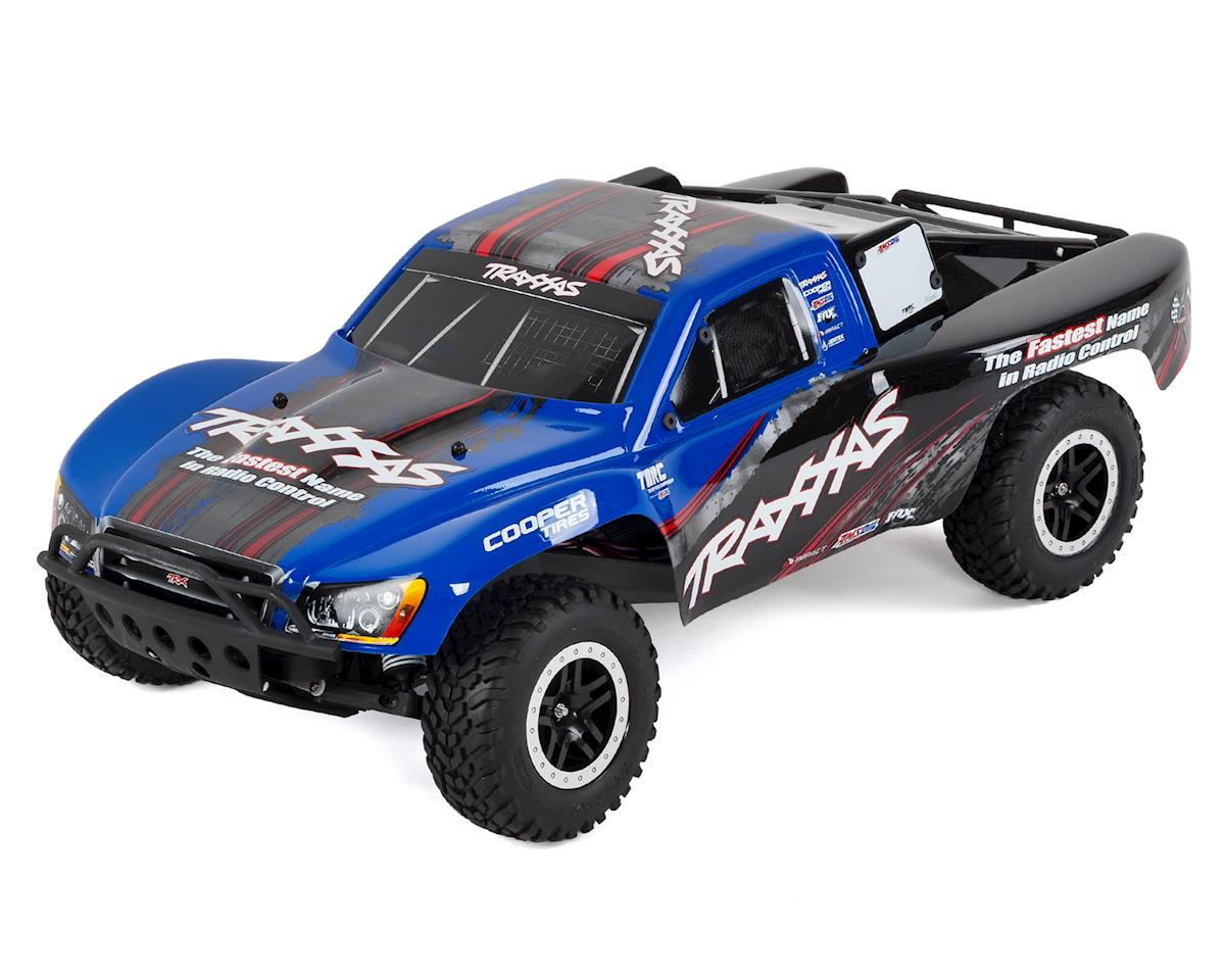 SCRATCH & DENT: Traxxas Slash VXL LCG 1/10 RTR 2WD Short Course Truck (Blue)