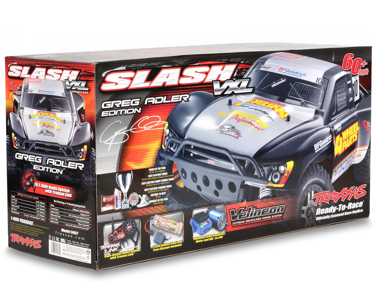 Traxxas Slash VXL Brushless 1/10 RTR 2WD Short-Course Truck (w/TQi 2.4GHz, Batte