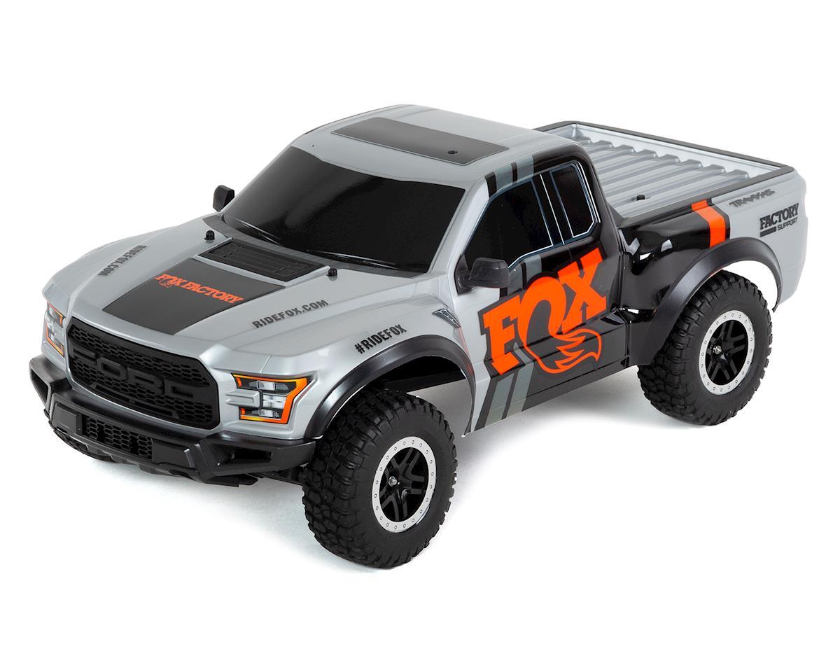 Traxxas 2017 Ford Raptor RTR Slash 1/10 2WD Truck (Fox) w/TQ 2 4GHz Radio,  Battery & DC Charger