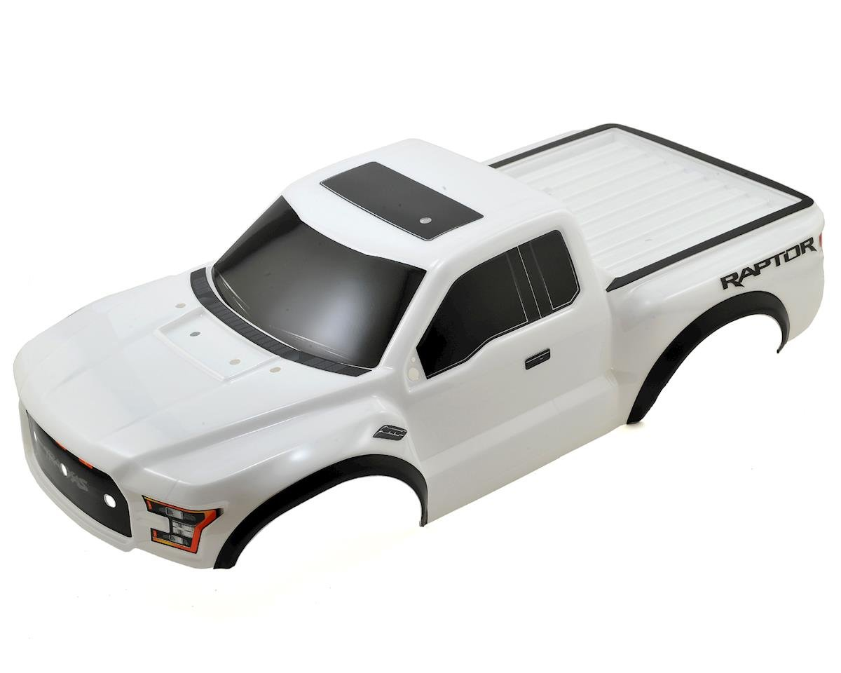 2017 Ford Raptor Pre-Painted Short Course Body (White) by Traxxas