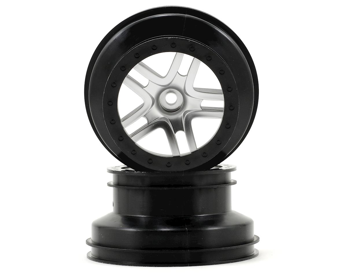Traxxas Dual Profile Split-Spoke SCT Wheels (Satin Chrome/Black-2) (Slash Front)