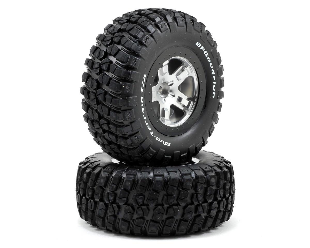 Traxxas BFGoodrich KM2 Tire w/SCT Front Wheel (2) (Satin Chrome) (Standard)