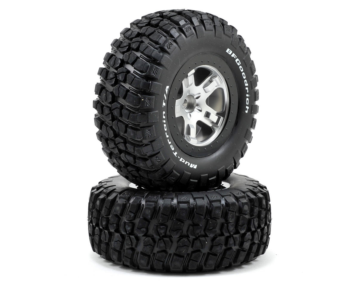Traxxas BFGoodrich KM2 Tire w/SCT Front Wheel (2) (Satin Chrome)
