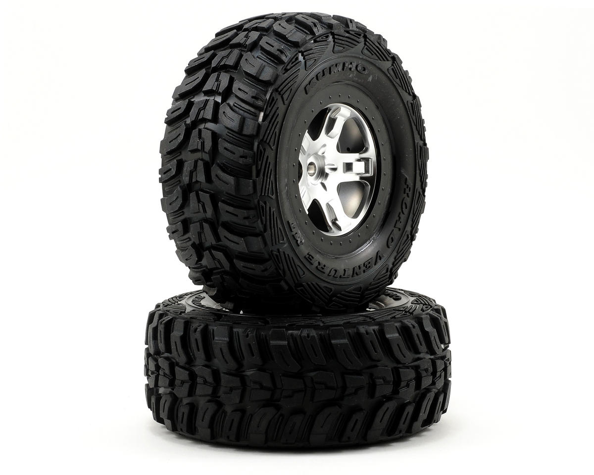 Traxxas Kumho Venture MT Tire w/SCT Rear Wheel (2) (Satin Chrome) (Standard)