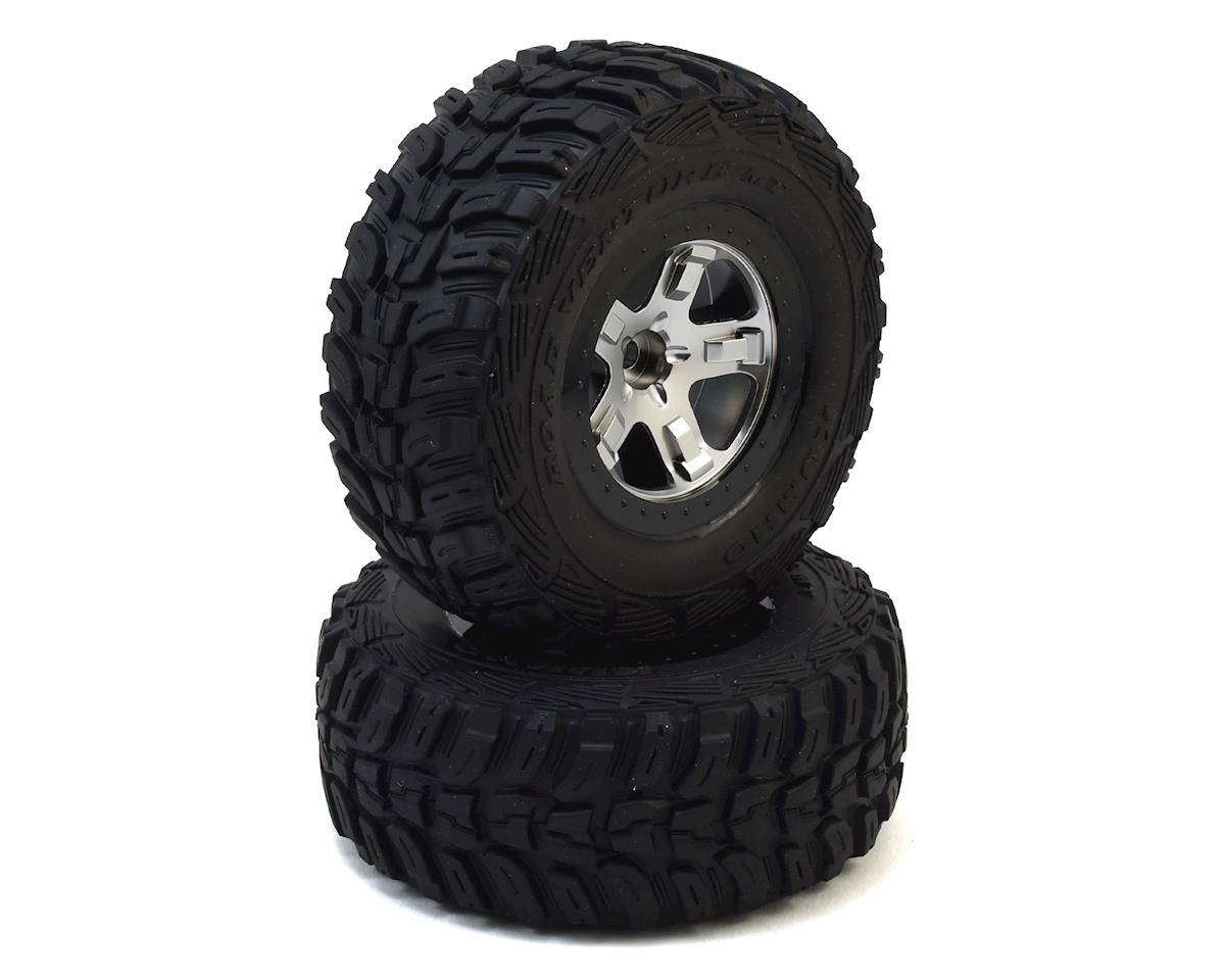 Traxxas Kumho Venture MT Tire w/SCT Front Wheel (2) (Satin Chrome)