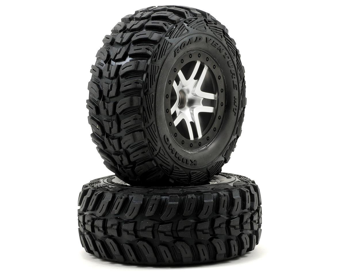 Traxxas Kumho Venture MT Front Tires (2) (Satin Chrome) (S1)