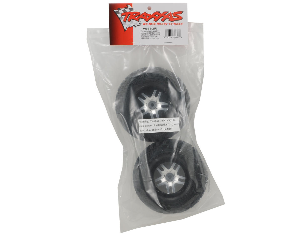 Kumho Venture MT Front Tires (2) (Satin Chrome) (S1) by Traxxas