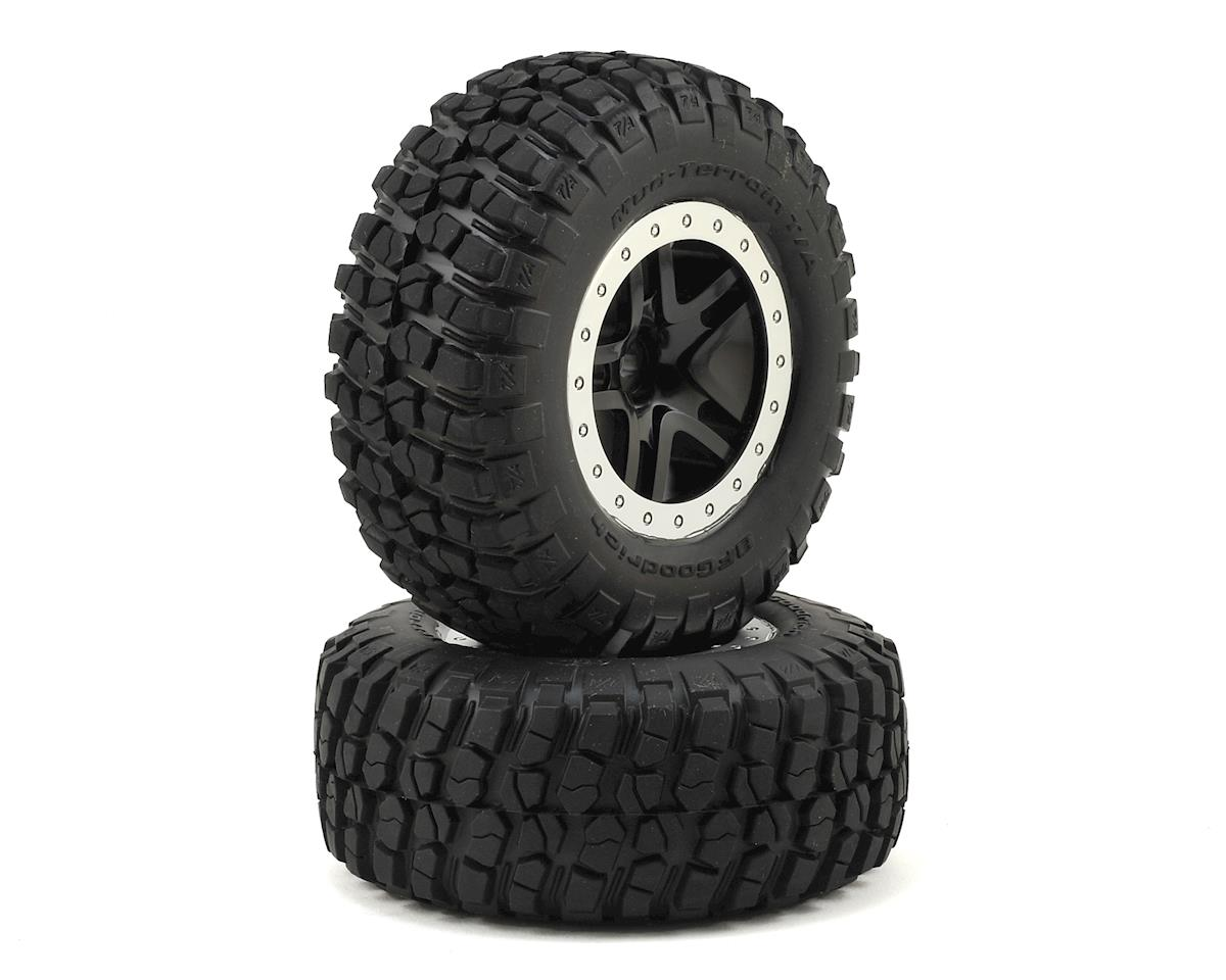 BFGoodrich KM2 Tire w/Split-Spoke Rear Wheel (2) (Black) by Traxxas