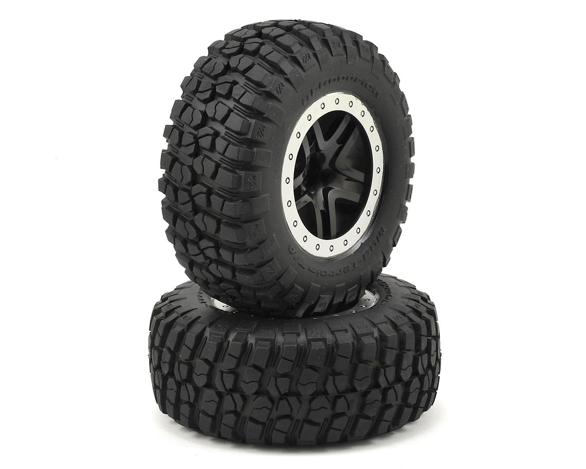 BFGoodrich KM2 Front Tire (2) (Satin Chrome) (Standard) by Traxxas